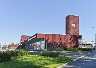 Utility and fire brigade building, Wallisellen