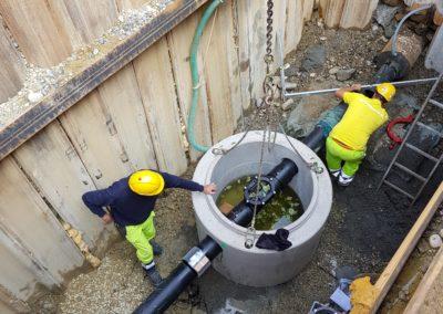 Neubau Grundwasser-Regulierungsleitung, Gossau