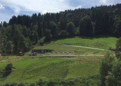 Wegnetzerweiterung Schiessplatz Hintere Au, Schwellbrunn