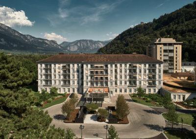Umbau Hotel Hof + Hotel Quellenhof Grad Resort, Bad Ragaz